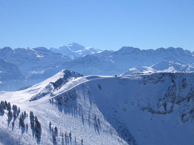 Vue du Mont Blanc depuis les Portes du Soleil